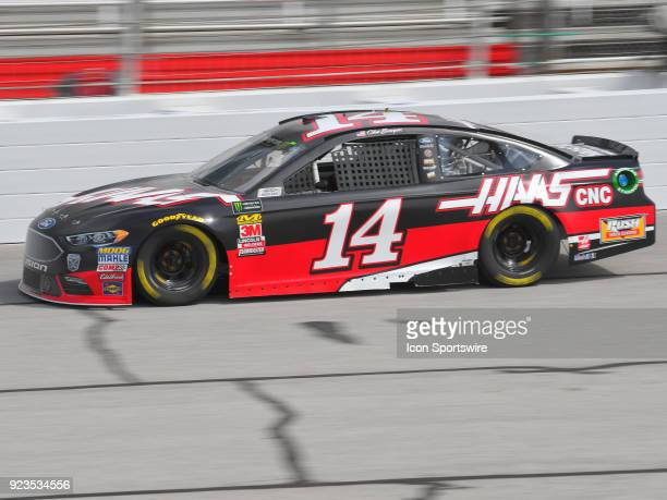 Clint Bowyer StewartHass Racing Haas Automation Ford Fusion during practice for the Monster Energy Cup Series Folds of Honor Quiktrip 500 on February...