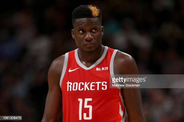 Clint Capela of the Houston Rockets plays the Denver Nuggets at the Pepsi Center on November 13 2018 in Denver Colorado NOTE TO USER User expressly...