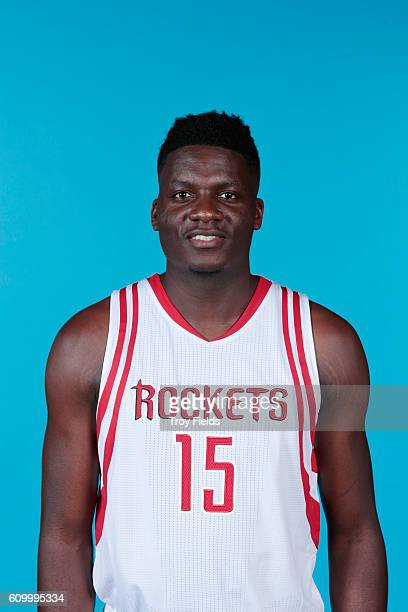 Clint Capela of the Houston Rockets poses for a headshot during the 20162017 Houston Rockets Media Day on September 23 2016 at the Toyota Center in...