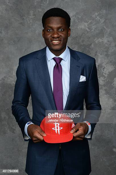 Clint Capela the 25th pick overall by the Houston Rockets poses for a portrait during the 2014 NBA Draft at the Barclays Center on June 26 2014 in...