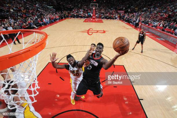 Clint Cappella of the Houston Rockets dunks against the Los Angeles Lakers on December 31 2017 at the Toyota Center in Houston Texas NOTE TO USER...