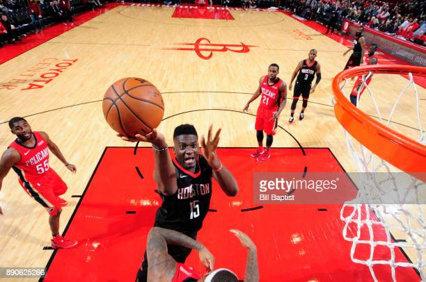 Clint Cappella of the Houston Rockets dunks against the New Orleans Pelicans on December 11 2017 at the Toyota Center in Houston Texas NOTE TO USER...
