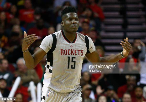 Clint Cappella of the Houston Rockets during the second quarter against the Cleveland Cavaliers at Toyota Center on March 12 2017 in Houston Texas...