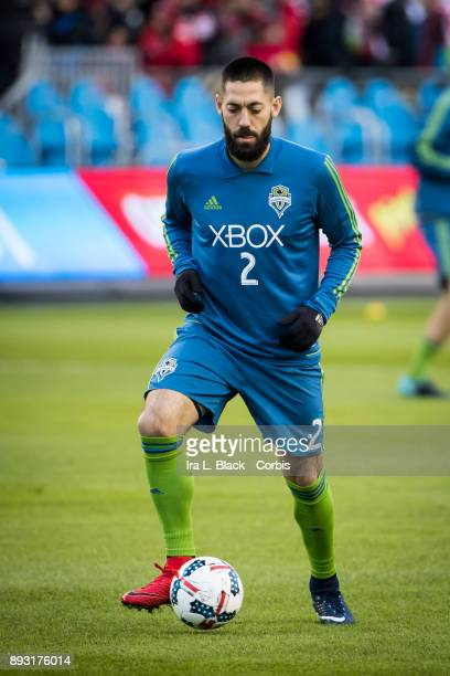 Clint Dempsey of Seattle Sounders warms up during the 2017 Audi MLS Championship Cup match between Toronto FC and Seattle Sounders FC at BMO Field on...