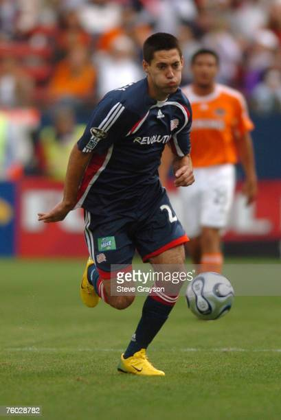 Clint Dempsey of the New England Revolution controls the ball during the MLS Cup match against the Houston Dynamo at Pizza Hut Park in Frisco Texas...