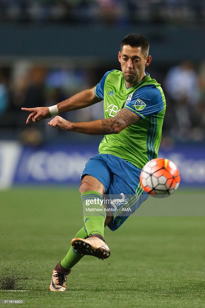 Clint Dempsey of the Seattle Sounders during the CONCACAF Champions League match between Seattle Sounders and Club America at CenturyLink Field on February 23, 2016 in Seattle, Washington.