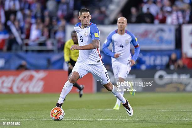 Clint Dempsey of the United States Men's National Team controls the ball against Guatemala during the FIFA 2018 World Cup qualifier on March 29 2016...