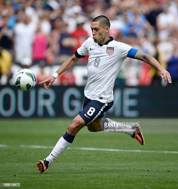 Clint Dempsey of the United States scores his side's third goal during the International Friendly match between Germany and the United States at the...