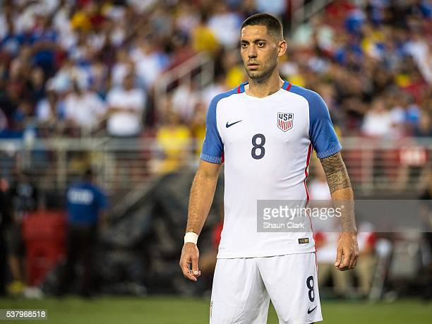 Clint Dempsey of United States during the Copa America Centenario Group A match between the United States and Columbia at Levi's Stadium on June 3...