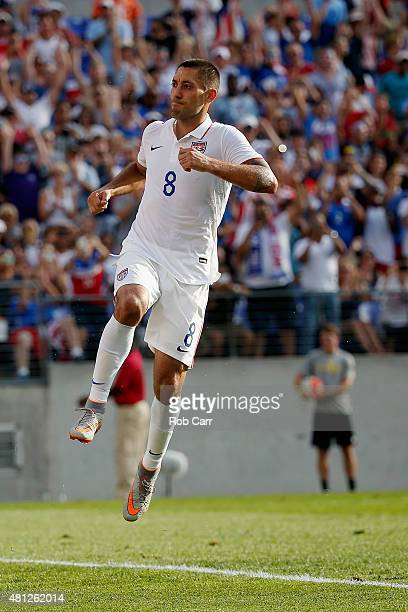 Clint Dempsey of USA celebrates a second half goal against Cuba during the second half of USA's 60 win during the 2015 CONCACAF Gold Cup quarterfinal...