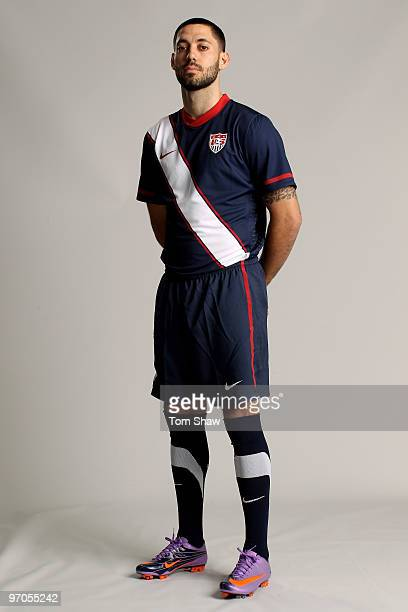 Clint Dempsey of USA poses during the Nike unveils the new Brazil home and away kit plus 8 away kits for the other NikeSponsored federations...