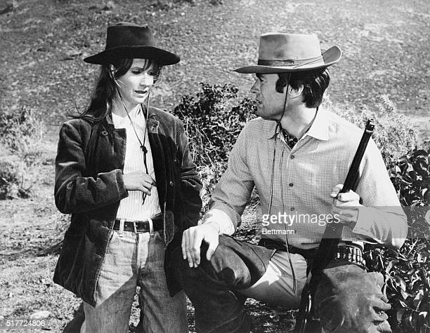 Clint Eastwood acts as the character Rowdy Yates in the television program Rawhide Julie Harris appears in a guest role with him