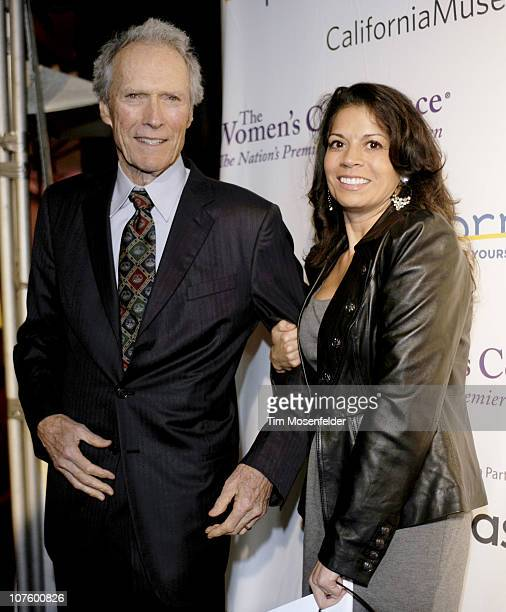 Clint Eastwood and Dina Eastwood attend the 2010 California Hall of Fame Inductee Ceremony at the California Musuem on December 14 2010 in Sacramento...