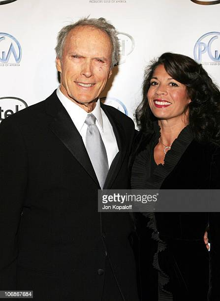 Clint Eastwood and Dina Eastwood during 2006 Producers Guild Awards at Universal Hilton in Univesal City California United States
