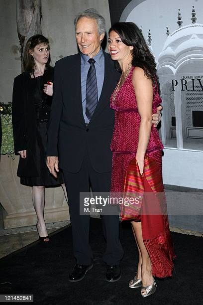 Clint Eastwood and Dina Eastwood during Giorgio Armani Celebrates 2007 Oscars with Exclusive Prive Show at Green Acres Estates in Beverly Hills...