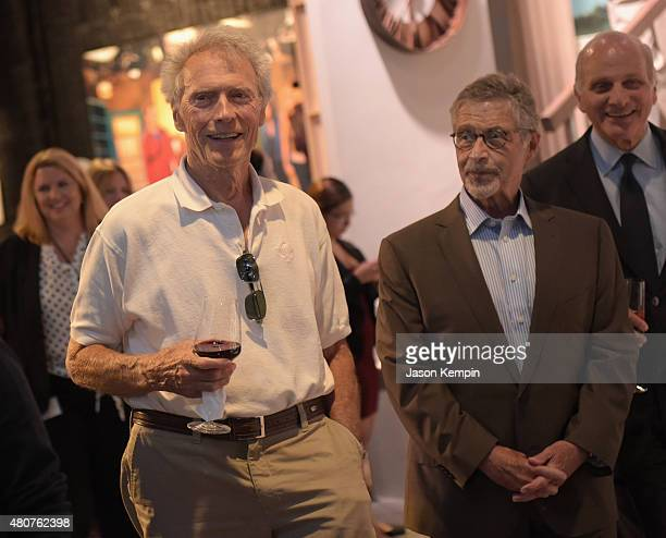 Clint Eastwood and former Warner Bros Chairman CEO Barry Meyer attend the Warner Bros Studio Tour Hollywood Expansion Official Unveiling Stage 48...