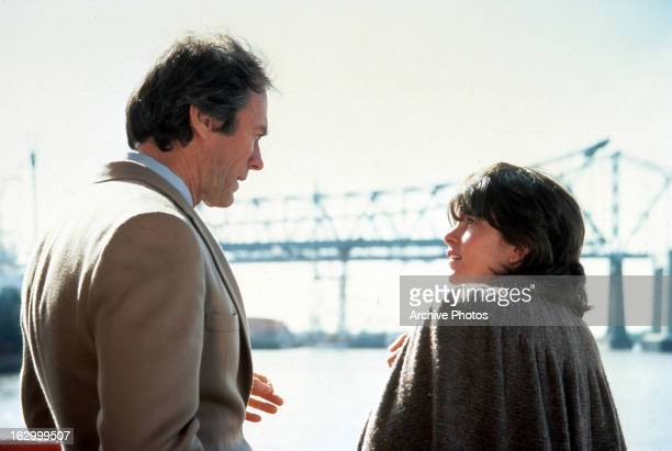 Clint Eastwood and Geneviève Bujold in a scene from the film 'Tightrope' 1984