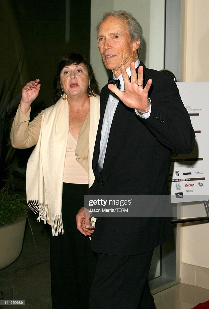 Clint Eastwood (right) and guest during 2006 BAFTA/LA Cunard Britannia Awards - Arrivals at Hyatt Regency Century Plaza Hotel in Los Angeles, California, United States.