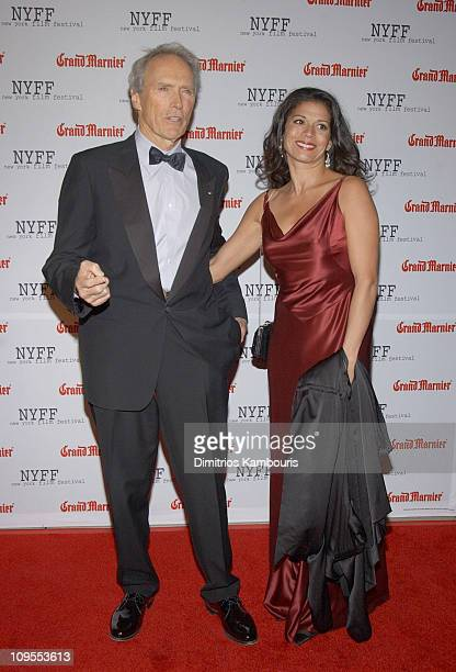 Clint Eastwood and his wife Dina Eastwood during Opening of the 41st New York Film Festival Sponsored by Grand Marnier Mystic River Premiere at Avery...