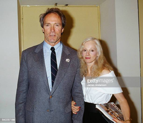 Clint Eastwood and his wife Sondra Locke attend the premiere of his movie Bird a biography of jazz musician Charlie Parker at the Cinémathèque de...
