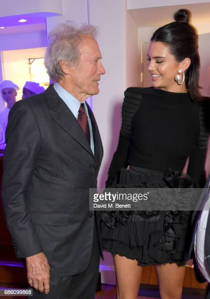 Clint Eastwood and Kendall Jenner attend the Vanity Fair and Chopard Party celebrating the Cannes Film Festival at Hotel du CapEdenRoc on May 20 2017...