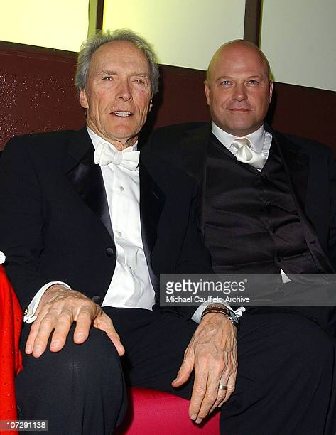 Clint Eastwood and Michael Chiklis during The 61st Annual Golden Globe Awards InStyle/ Warner Bros Golden Globe After Party Inside at Palm Court at...