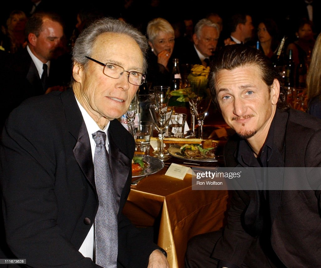 Clint Eastwood and Sean Penn during 10th Annual Screen Actors Guild Awards - Backstage and Audience at Shrine Auditorium in Los Angeles, California, United States.