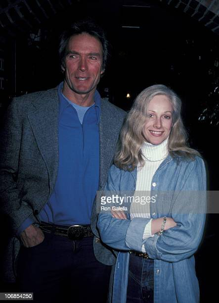 Clint Eastwood and Sondra Locke during Clint Eastwood and Sondra Locke Sighting at Adriano's Restaurant January 14 1982 at Adriano's Restaurant in...