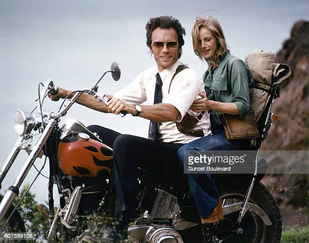 Clint Eastwood and Sondra Locke on the set of his movie The Gauntlet