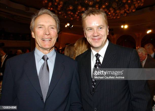 Clint Eastwood and Tim Robbins during 9th Annual Critics' Choice Awards Audience and Show at The Beverly Hills Hotel in Beverly Hills California...
