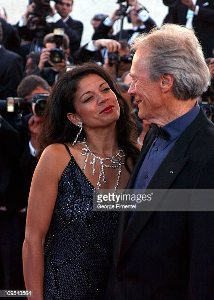 Clint Eastwood and wife Dina Eastwood during 2003 Cannes Film Festival Mystic River Premiere at Palais des Festivals in Cannes France