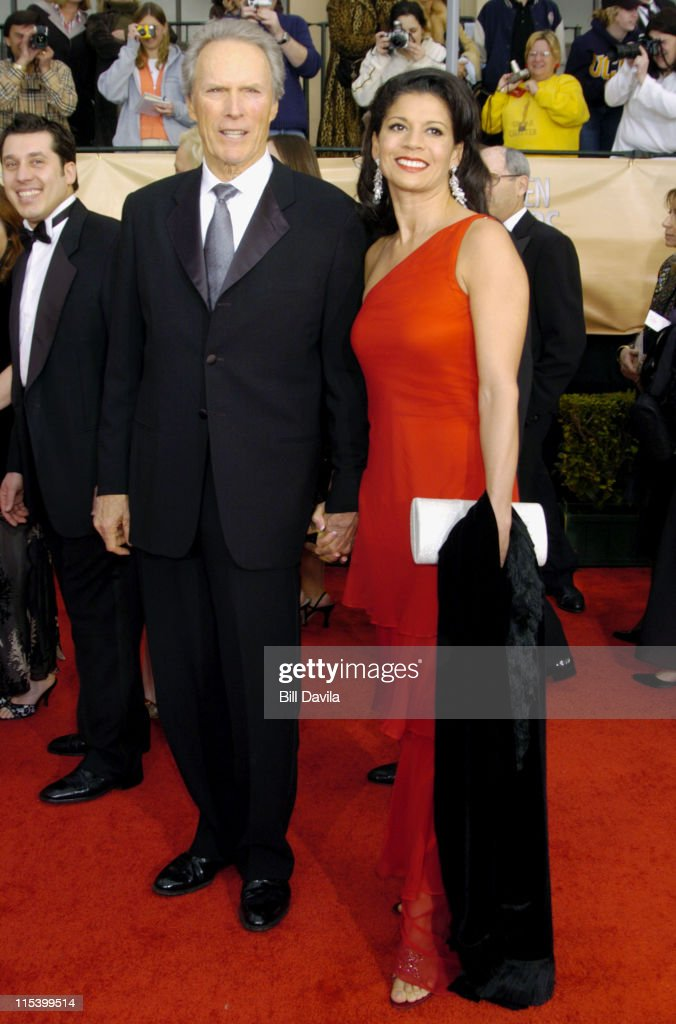 Clint Eastwood and wife Dina Eastwood during The 10th Annual Screen Actors Guild Awards - Arrivals at The Shrine Auditorium in Los Angeles, California, United States.