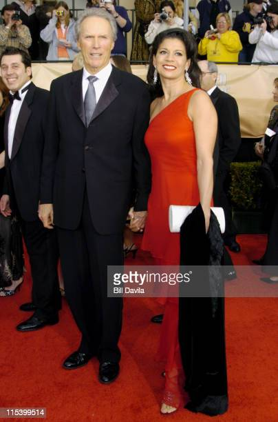 Clint Eastwood and wife Dina Eastwood during The 10th Annual Screen Actors Guild Awards Arrivals at The Shrine Auditorium in Los Angeles California...
