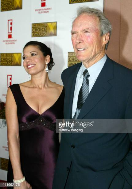 Clint Eastwood and wife Dina Eastwood during The 9th Annual Critics' Choice Awards Red Carpet at The Beverly Hills Hotel in Beverly Hills California...