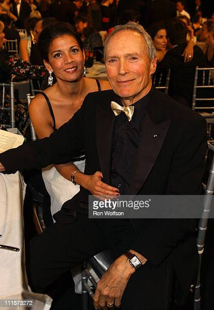 Clint Eastwood and wife Dina Ruiz during 11th Annual Screen Actors Guild Awards Green Room at Shrine Auditorium in Los Angeles California United...