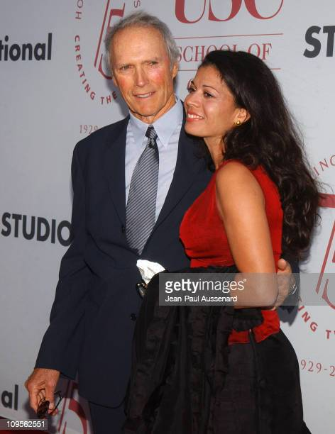 Clint Eastwood and wife Dina Ruiz Eastwood during 75th Diamond Jubilee Celebration for the USC School of Cinema Television Arrivals at USC's Bovard...