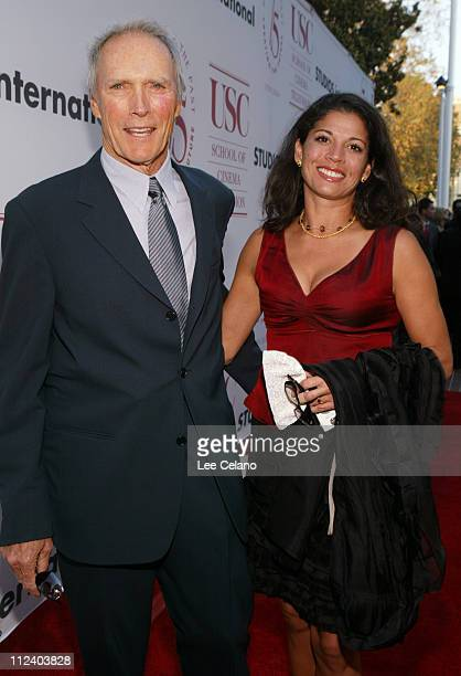 Clint Eastwood and wife Dina RuizEastwood during 75th Diamond Jubilee Celebration for the USC School of CinemaTelevision Red Carpet at University of...