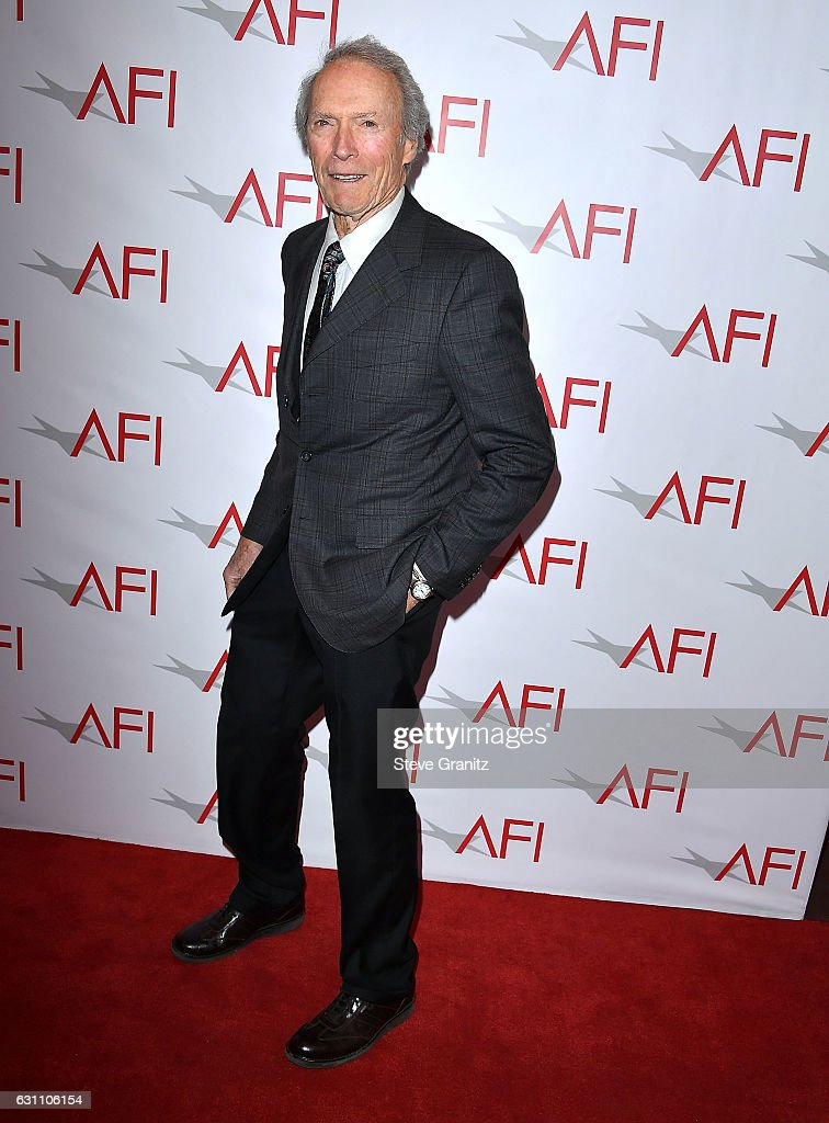 Clint Eastwood arrives at the 17th Annual AFI Awards at Four Seasons Hotel Los Angeles at Beverly Hills on January 6, 2017 in Los Angeles, California.