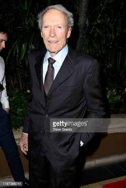 Clint Eastwood arrives at the 20th Annual AFI Awards at Four Seasons Hotel Los Angeles at Beverly Hills on January 03 2020 in Los Angeles California