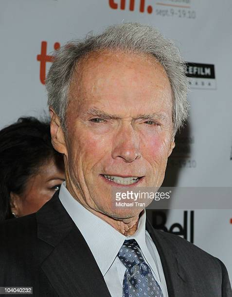 Clint Eastwood arrives at the Hereafter premiere during the 2010 Toronto International Film Festival held at The Elgin on September 12 2010 in...