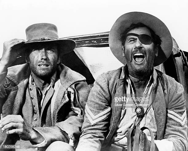 Clint Eastwood as 'Blondie', and Eli Wallach as Tuco in 'The Good, The Bad And The Ugly', directed by Sergio Leone, 1966.