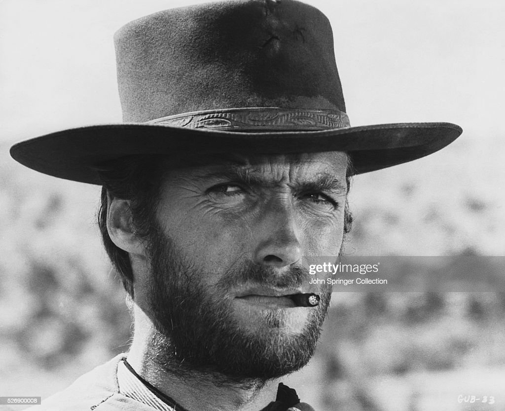 Clint Eastwood as The Man with No Name, a character he played in a series of Western movies by Italian director Sergio Leone.