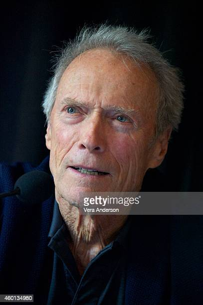 Clint Eastwood at the 'American Sniper' Press Conference at The Los Angeles Athletic Club on December 6 2014 in Los Angeles California