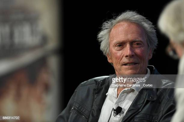 Clint Eastwood attends Cinema Lesson By Clint Eastwood during the 70th annual Cannes Film Festival at Palais des Festivals on May 21 2017 in Cannes...