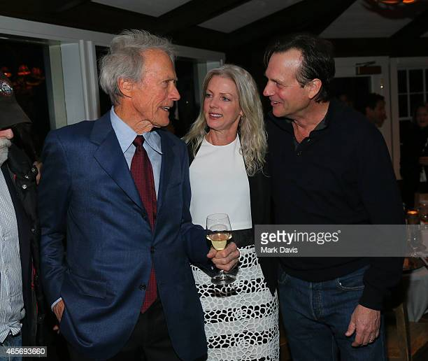 Clint Eastwood, Christina Sandera and Bill Paxton attend the 4th Annual Sun Valley Film Festival Vision Awards dinner honoring Clint Eastwood on...