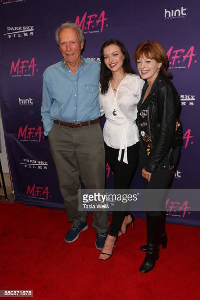 Clint Eastwood daughter Francesca Eastwood and Frances Fisher at the premiere of Dark Sky Films' 'MFA' at The London West Hollywood on October 2 2017...