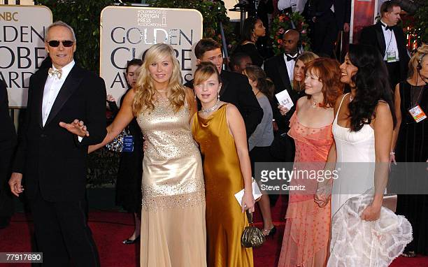 Clint Eastwood daughter Kathryn Eastwood daughter Francesca FisherEastwood Frances Fisher and wife Dina Eastwood