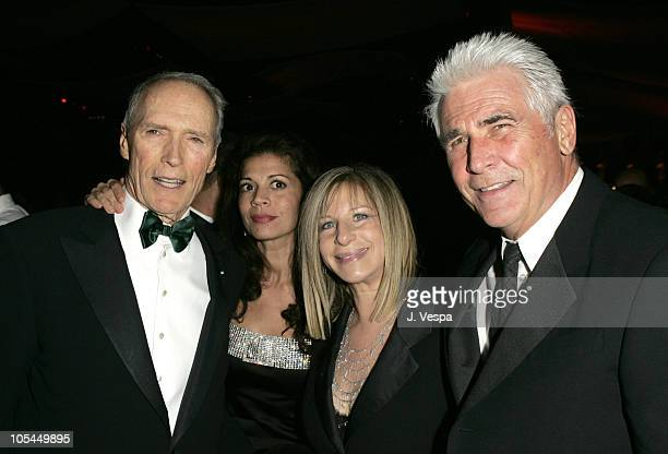 Clint Eastwood Dina Eastwood Barbra Streisand and James Brolin