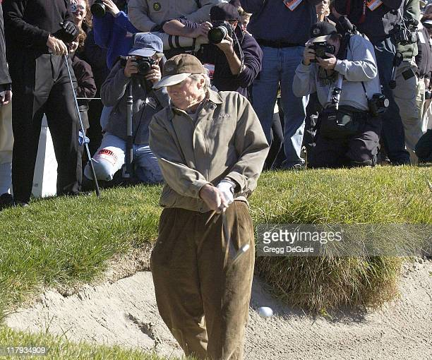 Clint Eastwood during 3M Celebrity Challenge at the AT&T Pebble Beach National Pro-Am at Pebble Beach Golf Links in Carmel, California, United States.