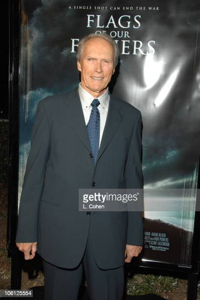 Clint Eastwood during 'Flags of Our Fathers' Los Angeles Premiere Red Carpet in Hollywood California United States